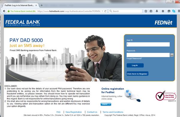 fed bank net banking