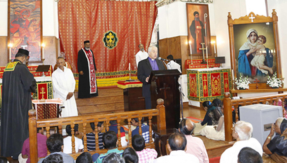 Archbishop of Dublin (Ireland) Revd Dr. Michael Jackson at Kottayam Cheriapally Mahaedavaka